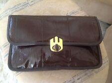 Vintage Brown EMPRESS Brand Patent Leather Clutch NOS.