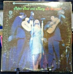 PETER, PAUL & MARY In Concert Double Album Released 1964 Vinyl/Record USA