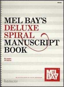 Analytique Mel Bay's Deluxe Spirale Manuscrit Livre 64 Pages 10 Portées-afficher Le Titre D'origine