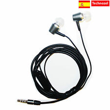 Auriculares Para ZTE Blade V7 Con Microfono Alta Calidad METAL Gris