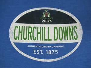 Kentucky-Derby-142-2016-Churchill-Downs-Morbido-Blu-XL-T-Shirt-D232