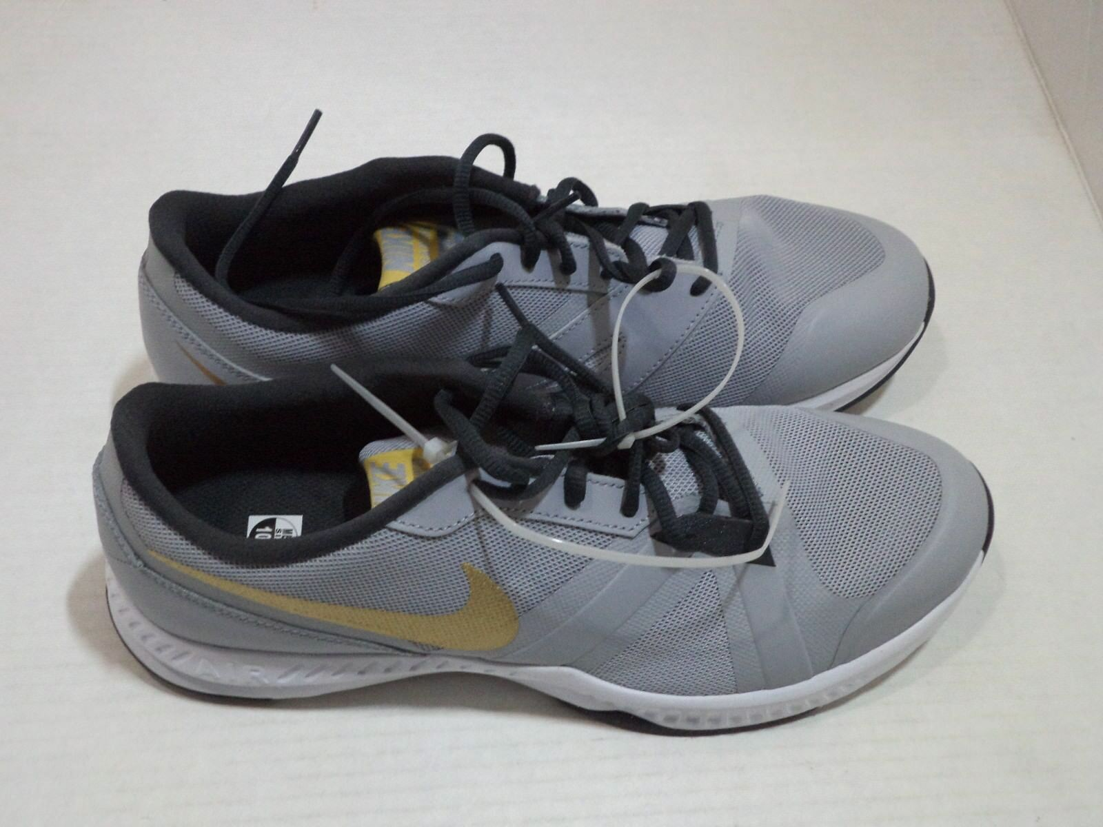 Nike Men's Air Epic Speed TR Cross Trainer Size 9.5 - 13 Color Gray Black & Gold