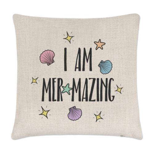 J'ai Am Mer-mazing coussin couvre oreiller sirène drôle