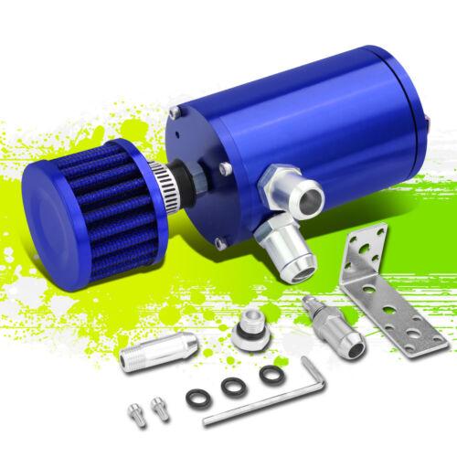 "BLUE 4.1/""X2.4/"" T6061 ALUMINUM OIL CATCH TANK//CAN+AIR FILTER FIT 1//2/""/&5//8/"" HOSE"