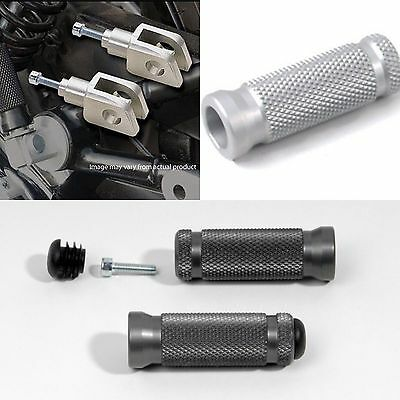 Black Billet Passenger Foot Pegs For Triumph Bonneville 00-07 08 09 10 11 12