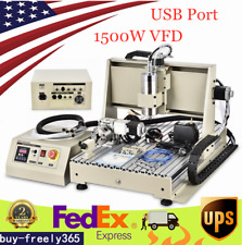 4 Axis 6040 Cnc Router Engraver Mill Carving Engraving Usb Cutter Machine 15kw