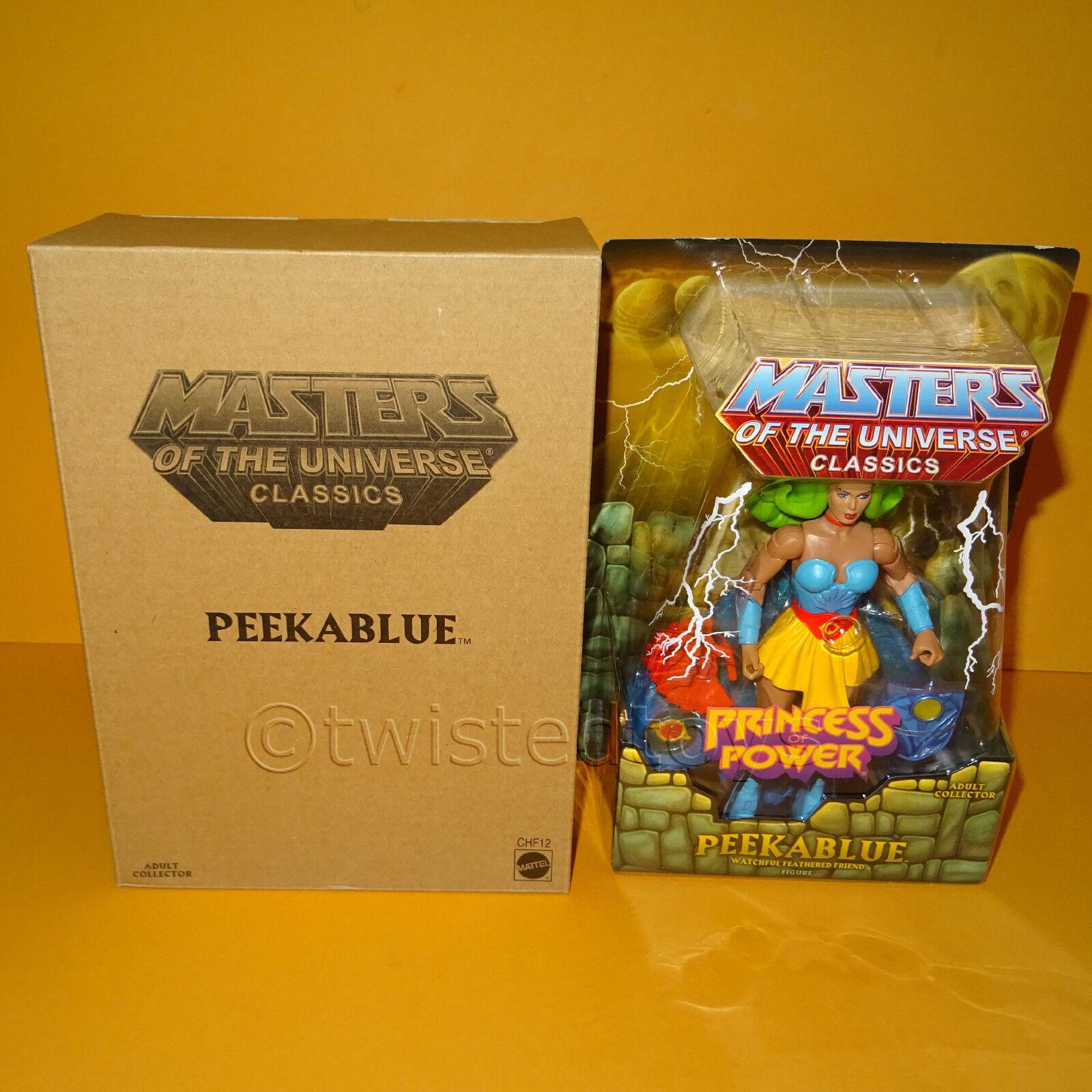 2014 MATTEL MOTU HE-MAN MASTERS OF THE UNIVERSE CLASSICS PEEKABlau (SHE-RA) MOC