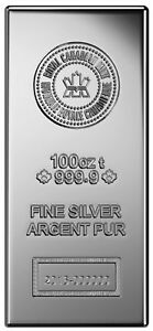 Royal Canadian Mint (RCM) 100oz .9999 Silver Bar