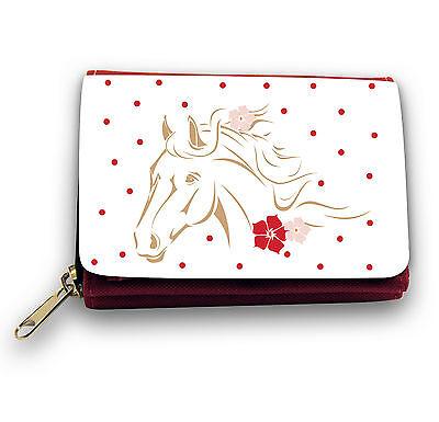 Portemonnaie Geldbörse mit Pferd Pferde Pferdemotiv Portemonnaie gepunktet gk24