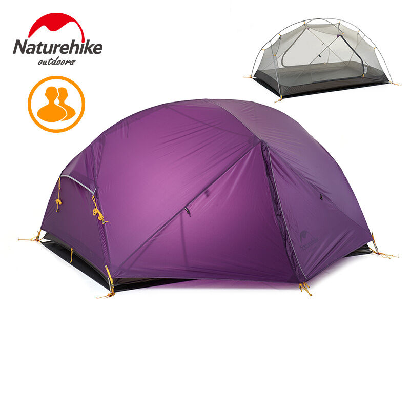 Naturehike Ultralight Camping Carpa para 2 personas Doble Capas tienda de la bóveda para la temporada 3