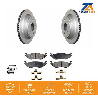 Rear Disc Rotors /& Semi-Metallic Brake Pads Fits 1500 Aspen Durango Ram
