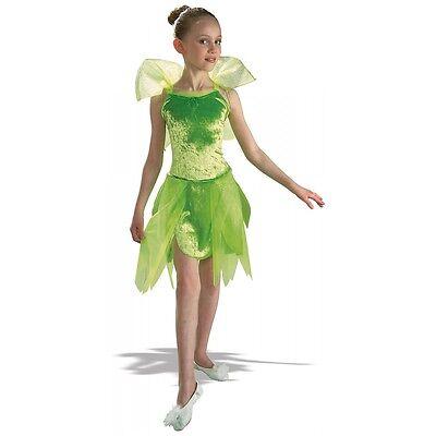 Tinker Bell Kids Costume Tinkerbell Pixie Fairy Peter Pan Halloween Fancy Dress