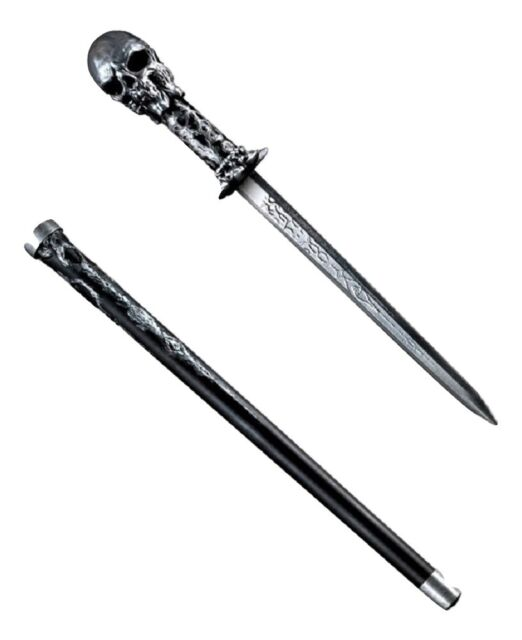 Skull Cane Sword Costume Accessory Adult Halloween Fancy Dress