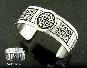 Ashling Aine Pewter Celtic Five-Knot Cuff Bracelet
