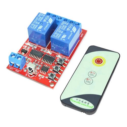 IR Wireless Remote Control Switch System DC24V 2CH Transmitter Receiver Kit