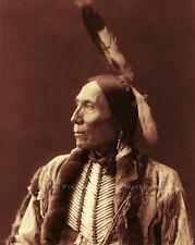 KIOWA INDIAN CHIEF WHITE MAN PHOTO NATIVE AMERICAN OLD WEST 1898  #21286