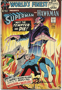 Worlds-Finest-209-1972-FN-Signed-Neal-Adams-DC-Comics-Free-Bag-Board