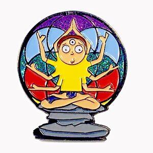 Yoga Morty, Yoga Pin, Third Eye, Zen,Rick and Morty hat pin