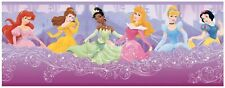 Disney Princesses on a Purple Cloud Sure Strip Wallpaper Border DK5959BD