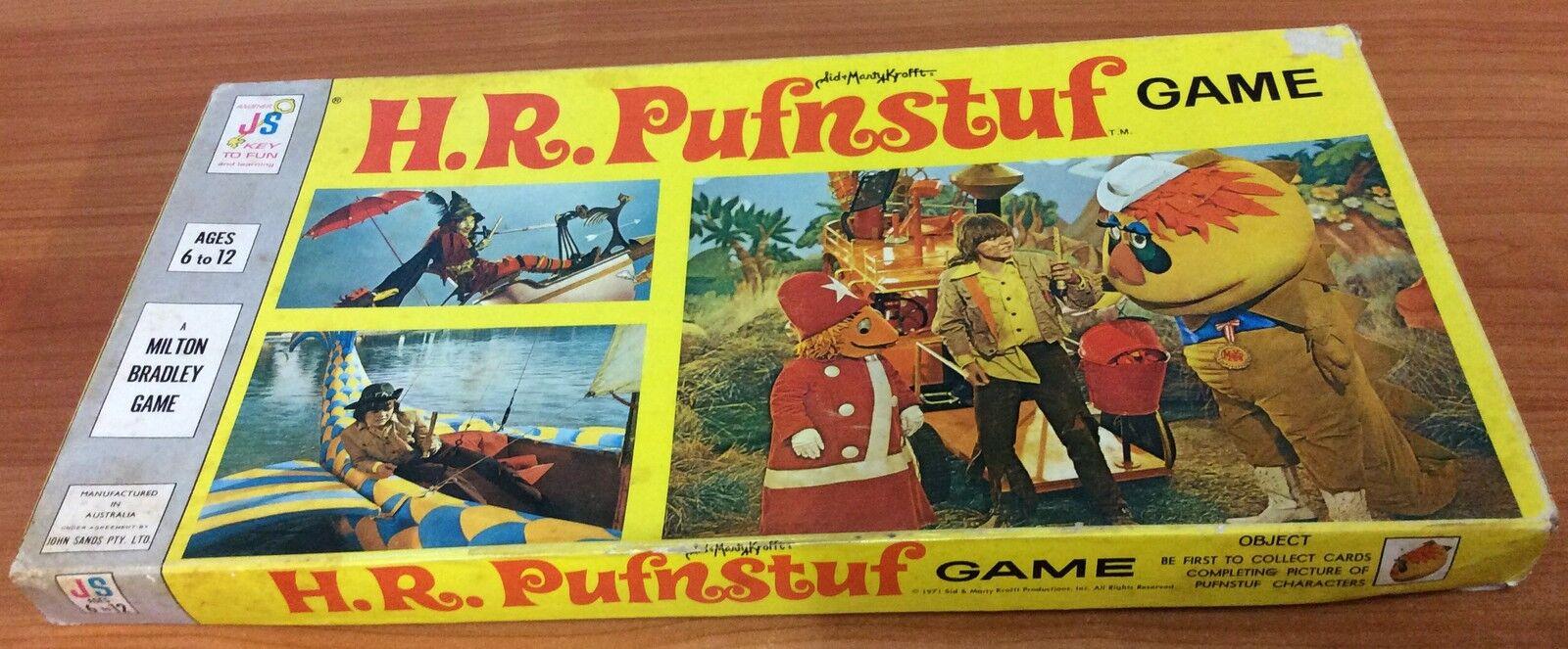 Vintage 1971 Board Game - H.R. Pufnstuf    Game - 100% complete e2199d