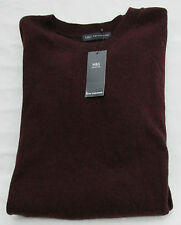 LADIES MARKS AND SPENCER BURGUNDY LONG SLEEVE JUMPER WITH CASHMERE SIZE 16