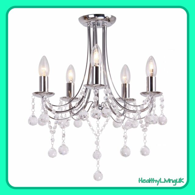 Debenhams Home Collection Esme Crystal Gl Chandelier Ceiling Light Rrp 120