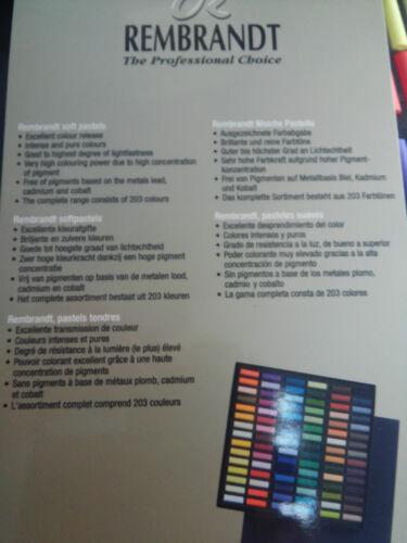 CAJA 90  MEDIAS BARRAS  PASTEL REMBRANDT PASTELES SUAVES EXTRAFINOS DE USO PROF