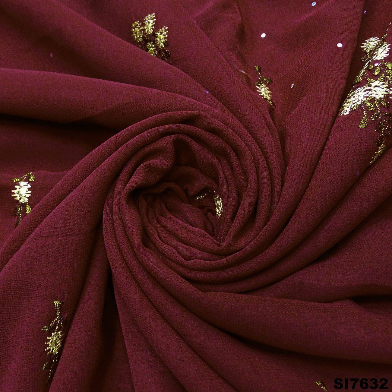 Jahrgang Sari Indian Bestickte Georgette Mischung Ethnischen Damen Saree SI7632
