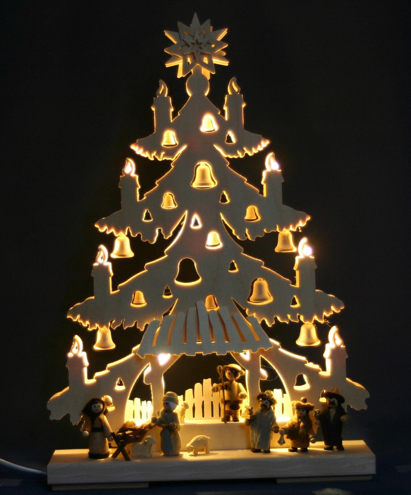 LED 3d-Schwibbogen abeto navidad pesebre tannebaum nacimiento de Cristo Erzgebirge