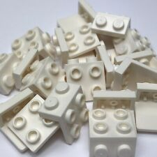 Lego 20 x White 1x2-2x2 Angle Plate 44728 6117940 Bracket Support Holder New
