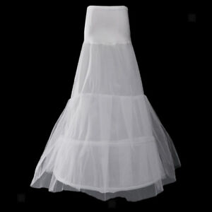 0b21da363643 Image is loading Mermaid-2-Hoop-Fishtail-Bridal-Wedding-Petticoat-Underskirt -