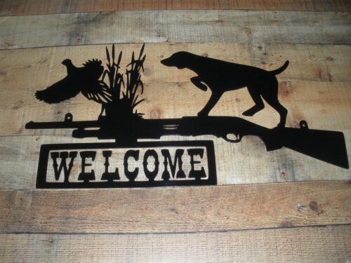 Shotgun Pheasant Welcome Wall Art