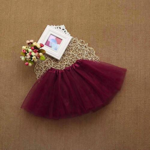 New Baby Girls Kids Solid Tutu Ballet Dance Skirts Fancy Party Skirt Mini Dress