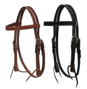 Mini horse size ENGLISH HEADSTALL w// leather reins Bridle Light Dark Oil Black