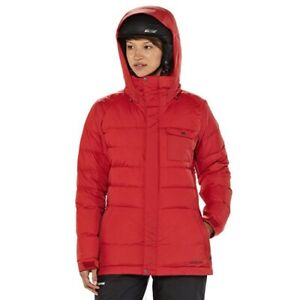 Patagonia-Womens-Rubicon-Down-Jacket-Cochineal-Red-WaterRepellent-Size-XS-Skiing