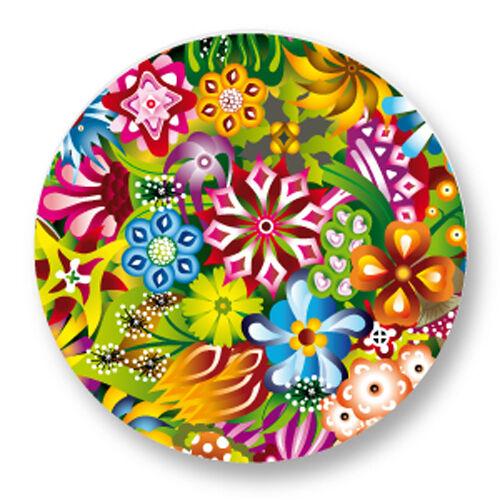 """Pin Button Badge Ø25mm 1/"""" Motif Pattern Colore Plante Fleur Flower Bouquet flore"""