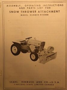 craftsman snowblower instruction manual
