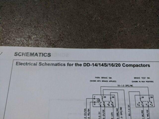 Ingersoll Rand Dd14 Dd14s Dd16 Dd20 Compactor Electrical