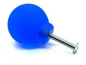Glacé Cool Bleu Boutons 33 Mm Givré Rond En Résine Boule Placard Tiroir Bouton (138)-afficher Le Titre D'origine