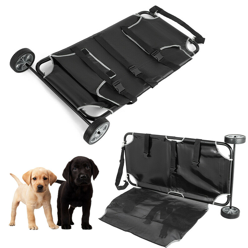 SALE Two Wheels Animal Stretcher Veterinary Transport Dog Pet Trolley Large NEW