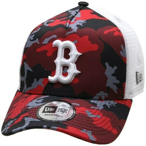 New Era Cap Co Camo Trucker Cap Boston Red Sox