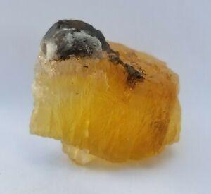 Natural Rare Golden Fluorite Unique Crystal From Namibia Gem Grade, US SELLER