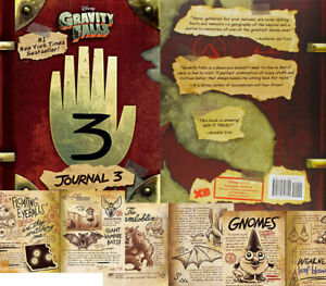 Details about Gravity Falls Journal 3, 2nd edition Hardcover brims monster  secret pages