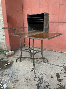 1940s Toledo Steel UHL Ohio Roll Top Desk Table Antique Industrial Japan Finish
