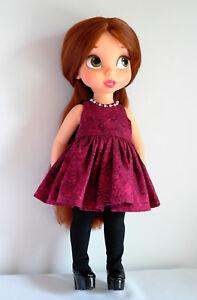 Detalles Acerca De Borgoña Vestido Para Muñeca Animator 16 Disney Animator Muñeca Ropa Mostrar Título Original