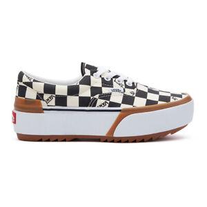 Details zu New Vans Era Stacked Checkerboard MultiTrue White Sneakers Platform Shoes 2020