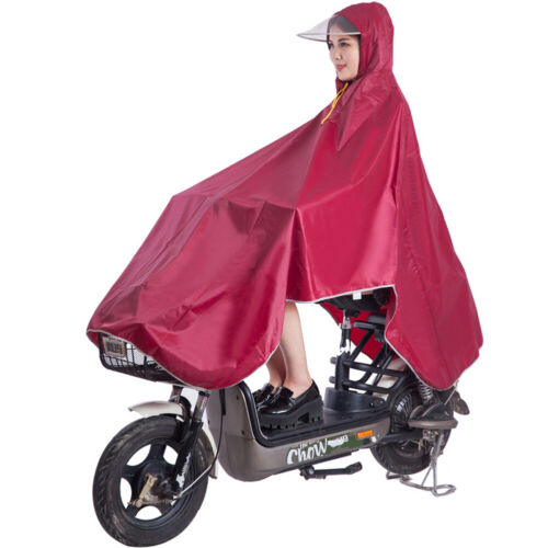 Outdoor Cycling Bike Raincoat Waterproof Hooded Rain Cape Poncho Coat For Unisex