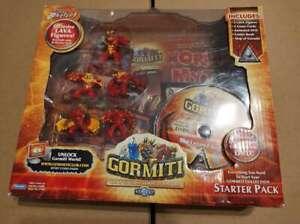Gormiti Invincible Lords Of Nature Series 1 5 Lava Tribe Figures DVD comic book