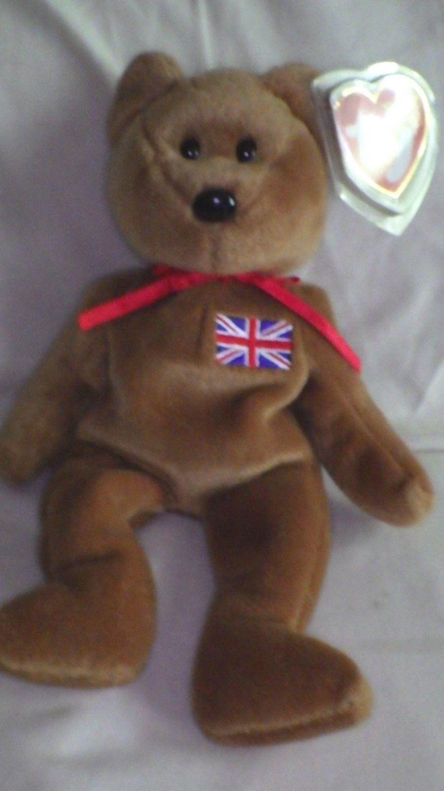 Beanie baby  britannia  bär 1997 selten - roter stempel in grund - und star