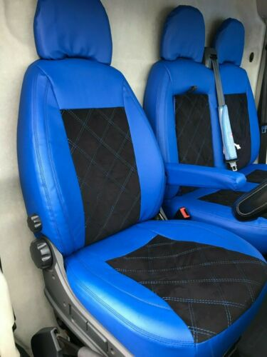 Citroen Relay SEAT COVERS ECO LEATHER+ALCANTARA Bentley Stitching Seats 2+1